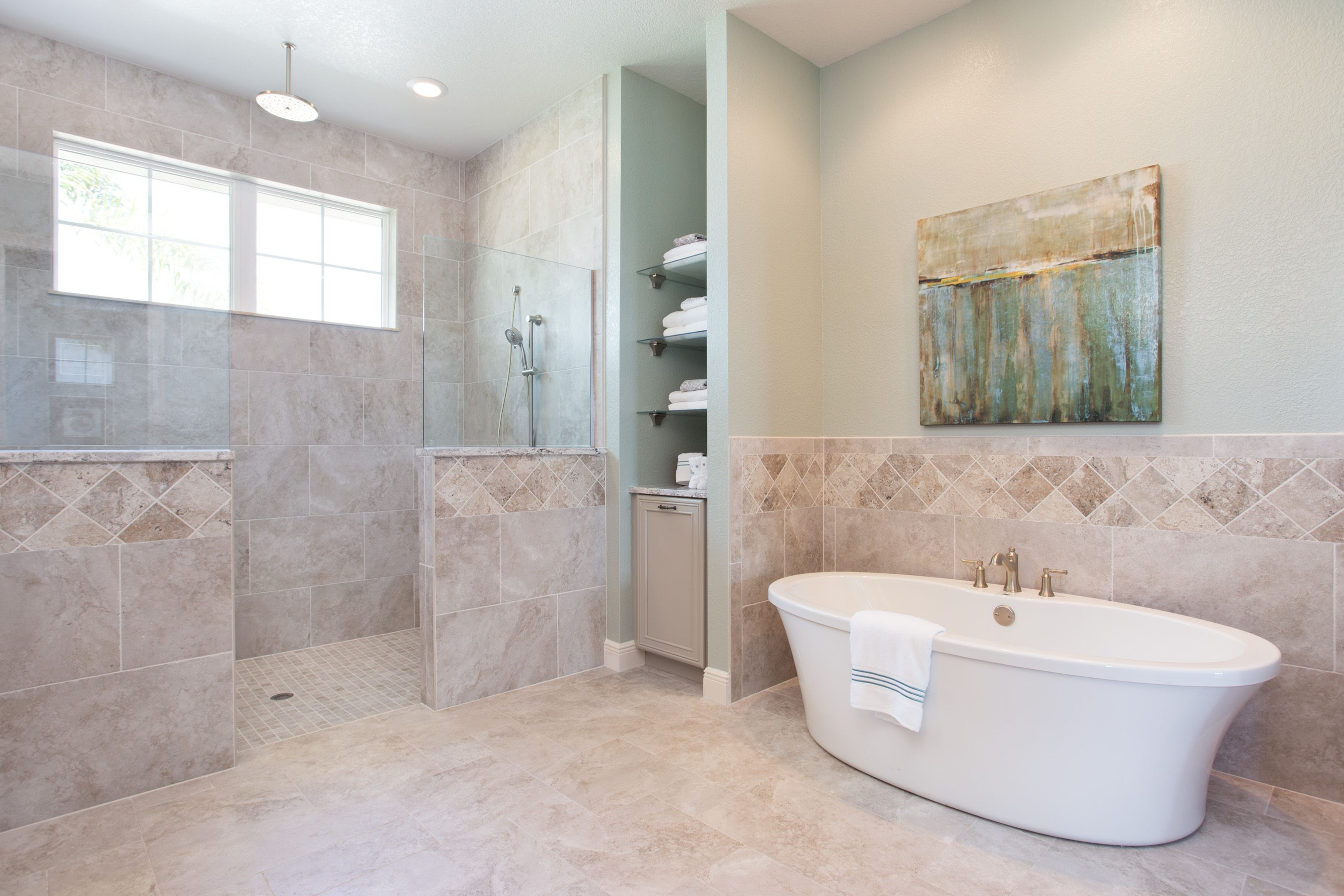 Another view of the spacious master en suite with oversized ...