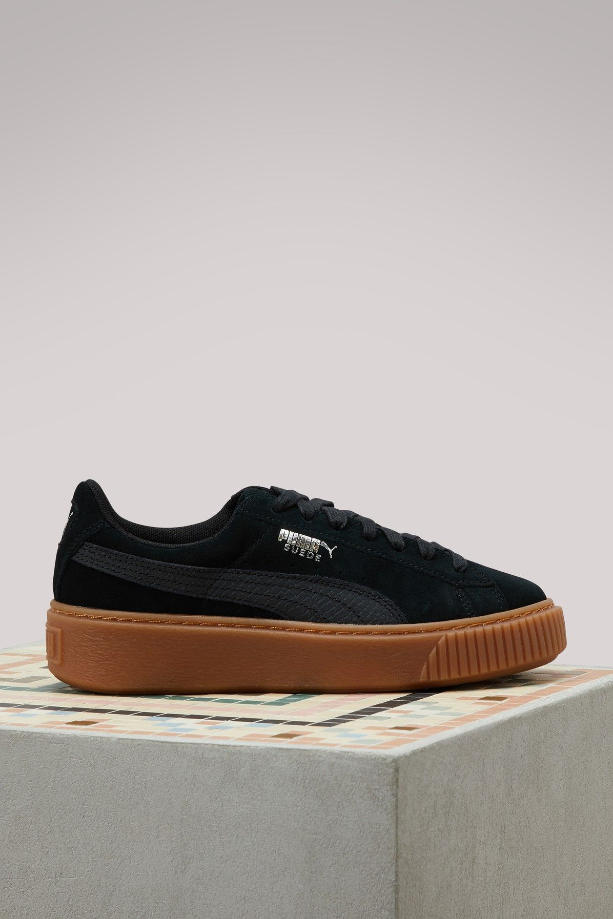 low cost 52aa8 0a239 PUMA SUEDE PLATFORM GUM SNEAKERS. #puma #shoes # | Puma