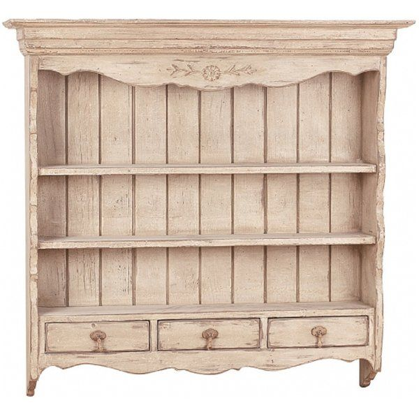 Antique White French Country Wall Shelf