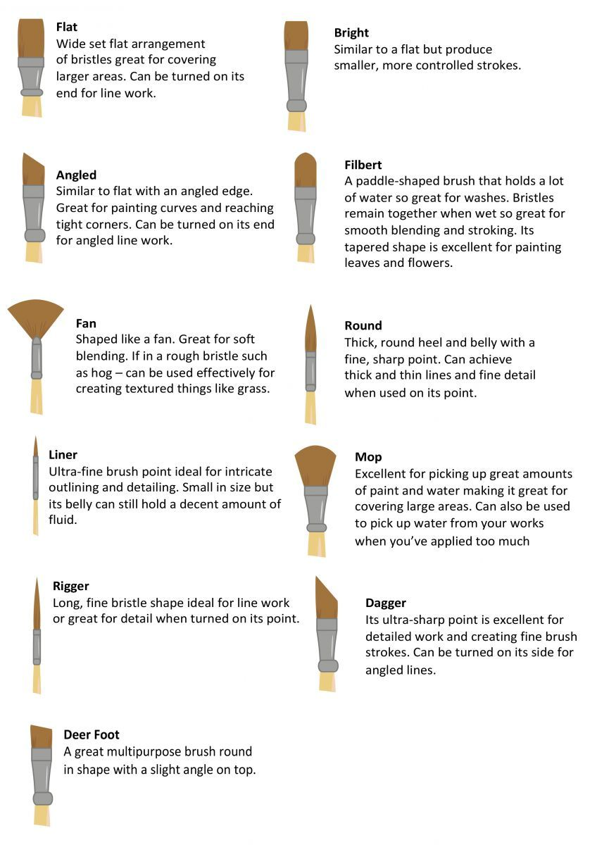 Art Shed Blog Education A Guide To Choosing The Right Paint Brush
