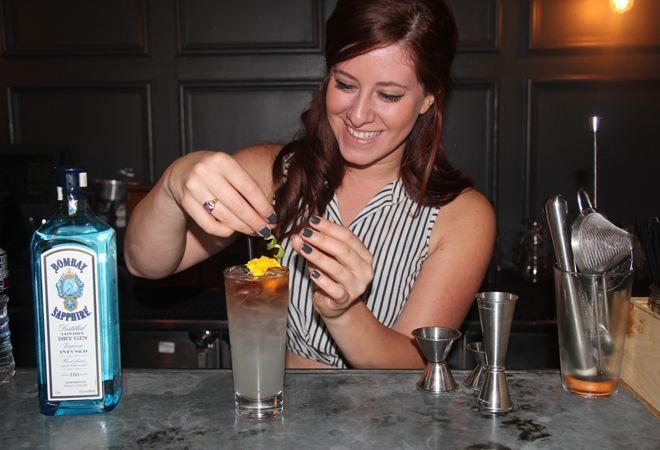 Bartenderess Karen Grill Takes Over the Churchill's Cocktail