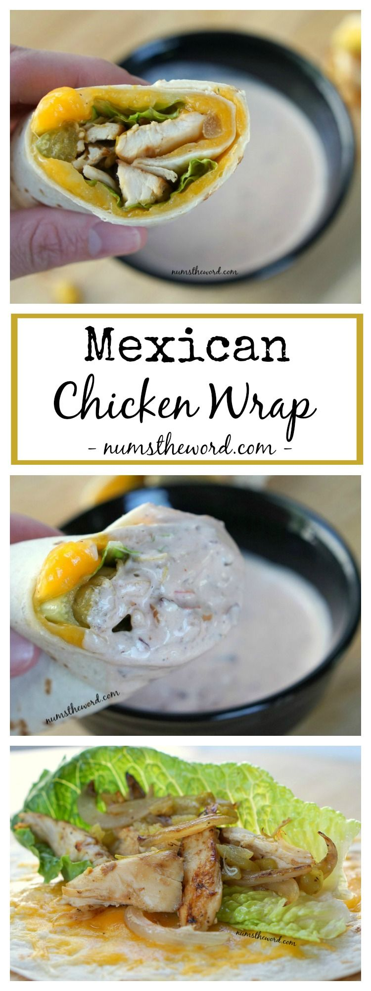 Mexican Chicken Wrap – a simple, quick toss together meal that is perfect for home, work or on-the-go. Packed with flavor and easy to make!