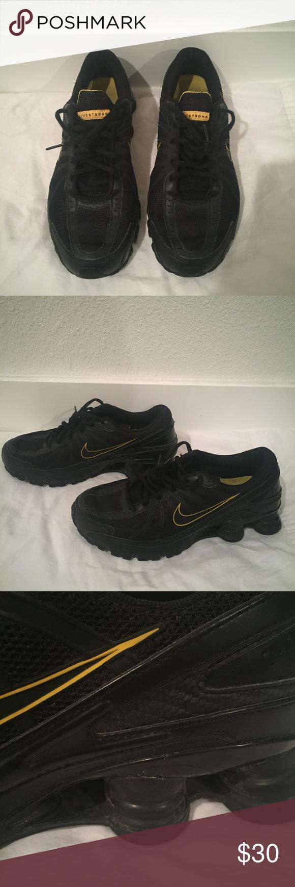 970ffec52c15 NIKE Shox Sneakers (Men s) Black with yellow pops