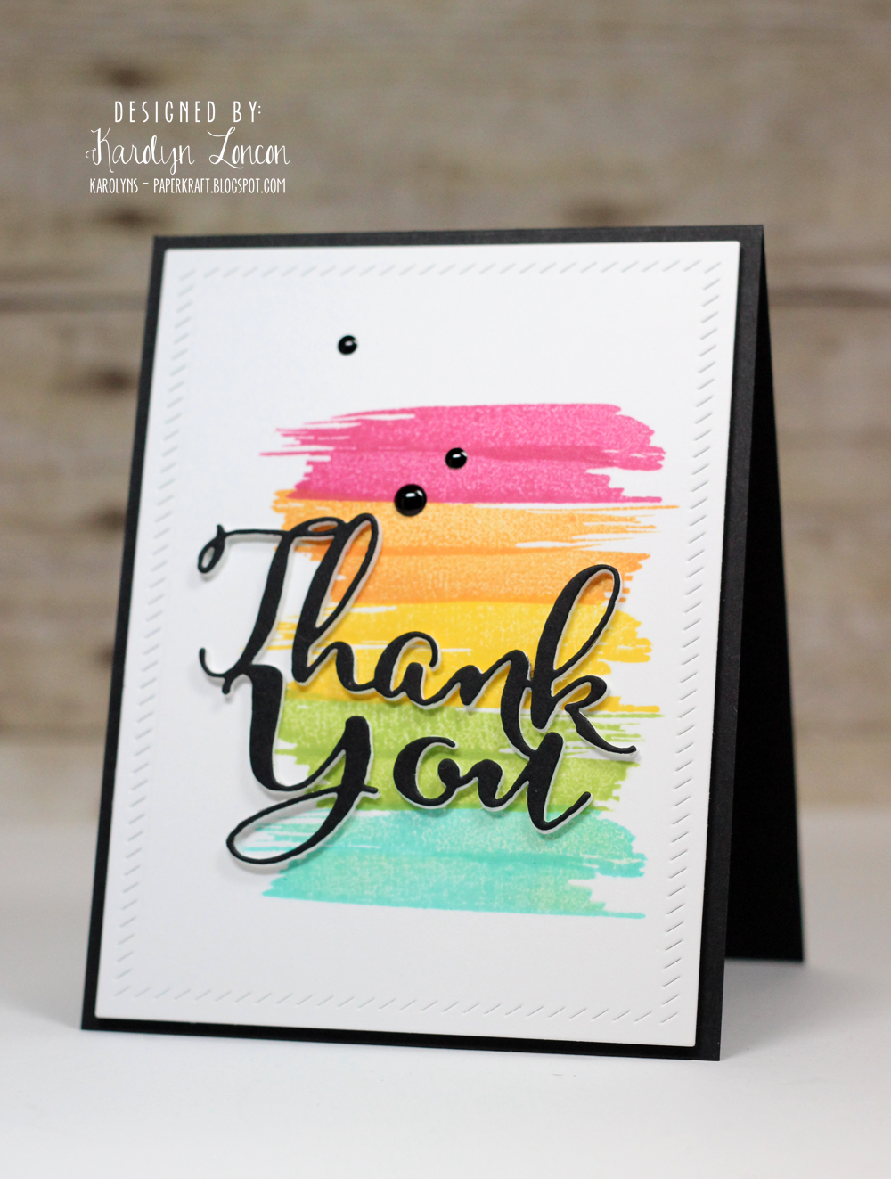 Inspiration from Katie & Karolyn  Handmade thank you cards