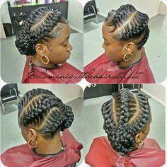 Underbraids With Side Bun Braided Updo Natural Hair Goddess Braids Hairstyles Hair Styles