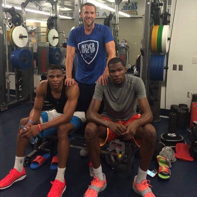 I Love These Guys Pushing Each Other We Are All A Work In Progress In Everything Thunder Mob K Okc Thunder Basketball Oklahoma City Thunder Okc Thunder