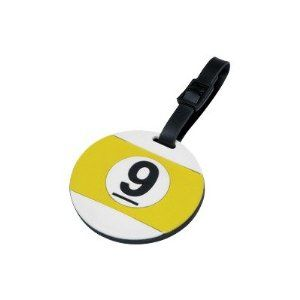 Cuestix NICT01 Novelty Items Nine Ball Case Tags. Cuestix NICT01 Features: -Bag name tag. -Attaches to pool case. -Nine ball with player.