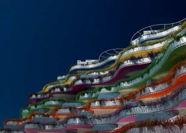 Jean Nouvel - Las Boas apartments, Ibiza 2012. Via.