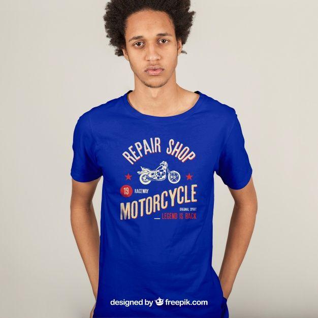 Download T Shirt Print Concept Free Psd Freepik Freepsd Mockup Template Fashion Man Printed Shirts Shirt Mockup Tshirt Print