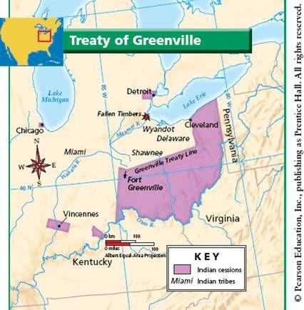 28 Treaty Of Greenville 1796 Ohio History United States History Ohio Map