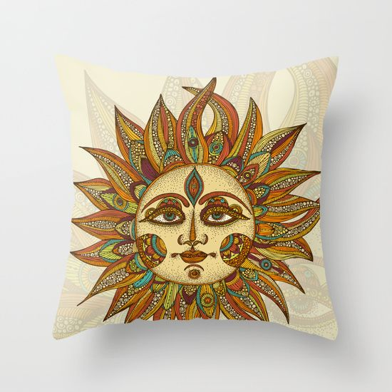 Helios Throw Pillow By Valentina Harper Sun Art Art Celestial Art