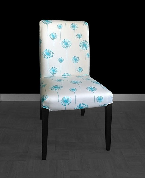 SALE IKEA HENRIKSDAL Dining Chair Cover Dandelion blue  by RockinCushions on Etsy