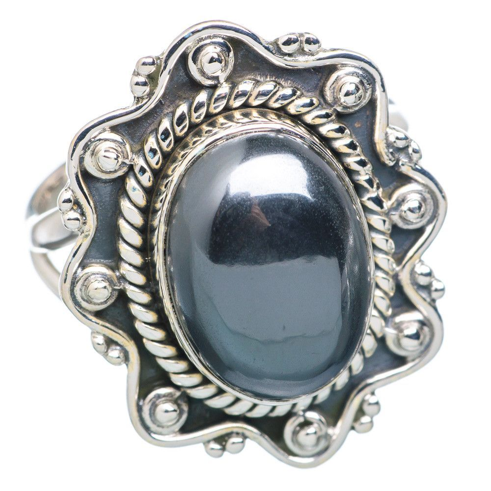 Hematite 925 Sterling Silver Ring Size 8.25 RING712936