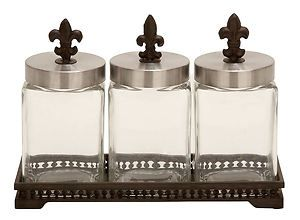 Bathroom Canister Set Fair Simple Diy Knockoff Fleur Canisters  Get Glass Jars And Add Review