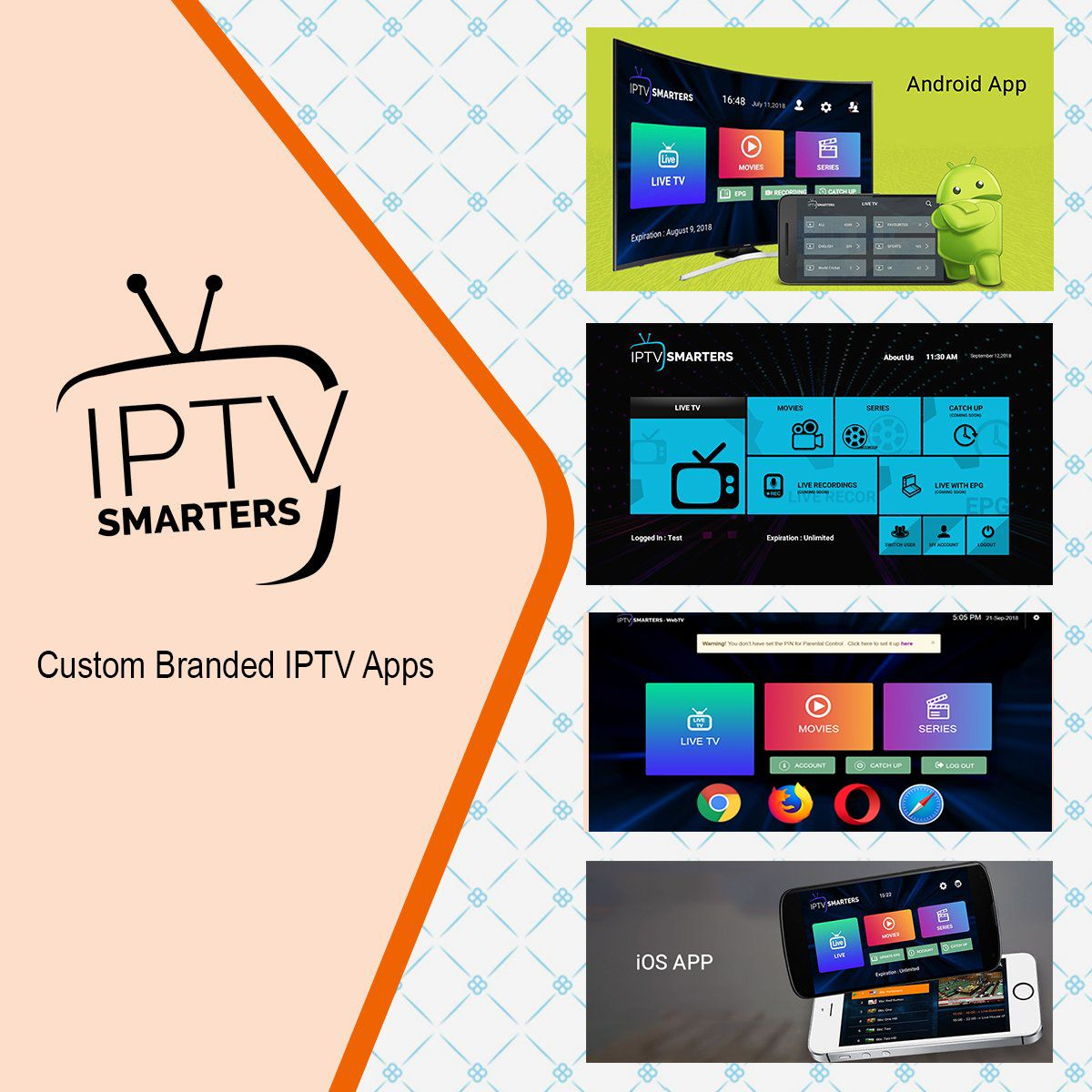 Are you IPTV Services Provider? If you want IPTV Apps with your own