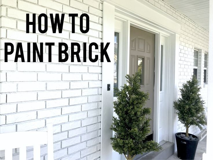 How to Paint Exterior Brick Like a Pro | exterior, house | Pinterest ...