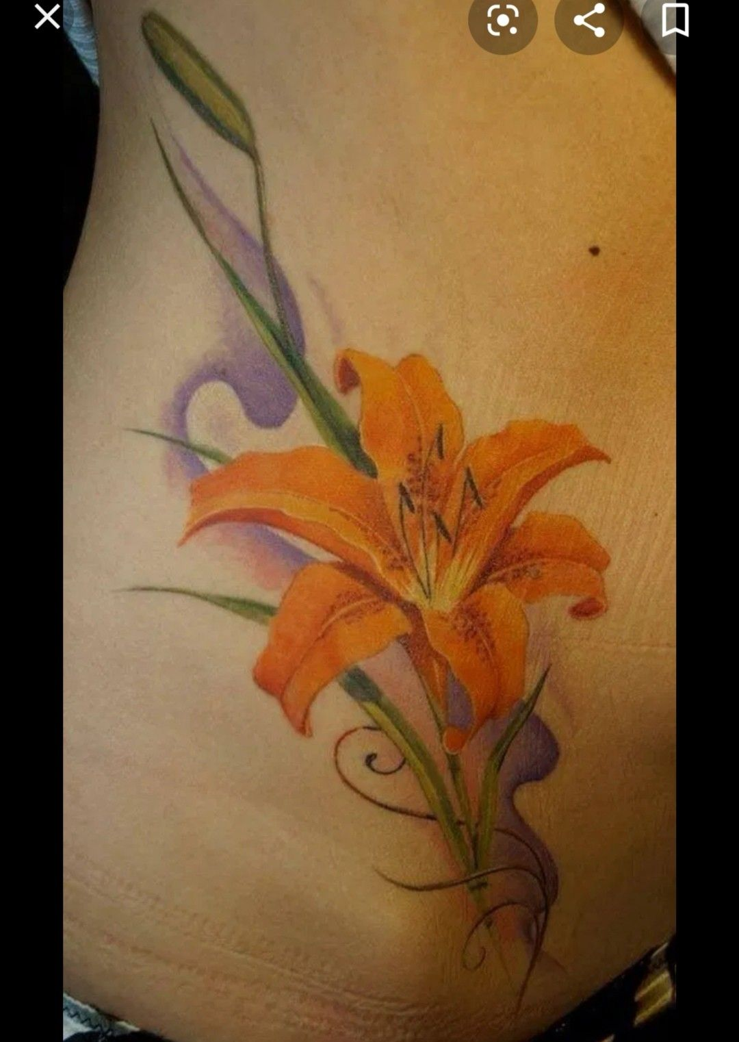 Pin by sarah feng on inked lily flower tattoos tiger