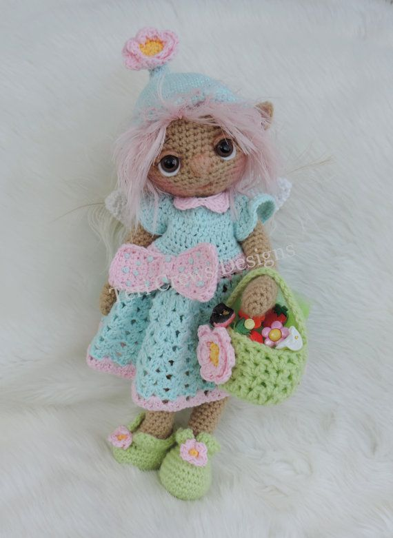 Cute Summer Fairy Doll Amigurumi by Teri Crews Designs | Gnomo, Hada ...