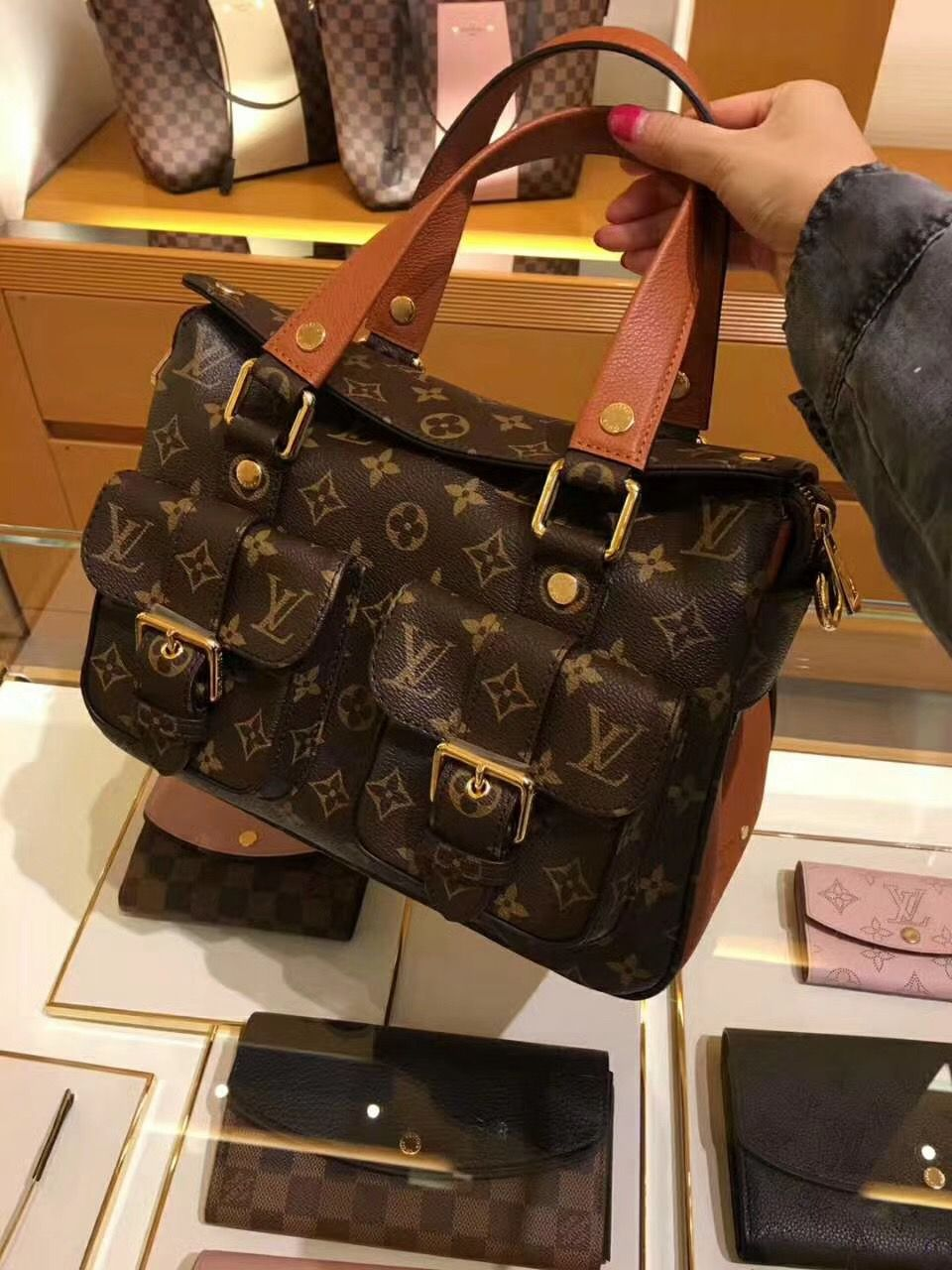4c74f28dc77a Louis Vuitton Monogram Manhattan Bag M43481 Caramel  m43481  manhattan   louis  vuitton