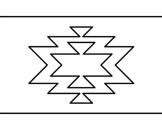 Navajo Print, Geometric Modern Home Decor, Aztec Pattern