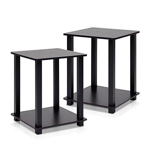 Furinno 12127EX/BK Simplistic End Table, Espresso/Black, ... Https