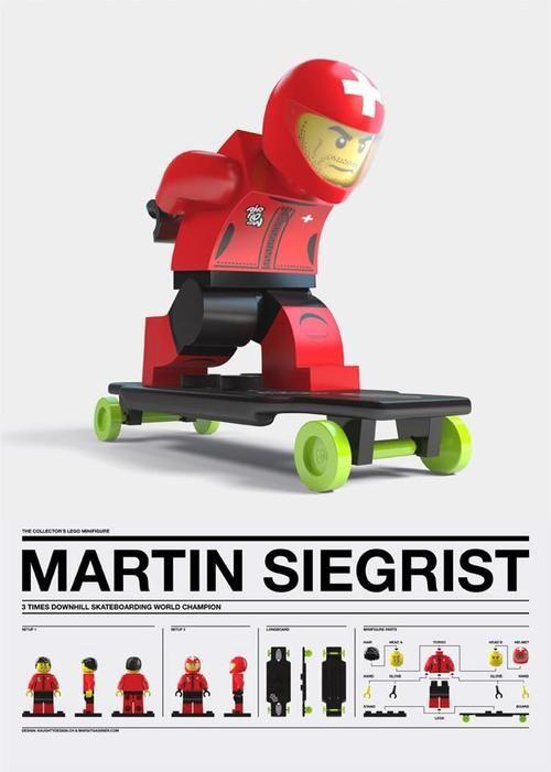 Martin Siegriest in Lego Form.   Longboard   Lego, Custom ...