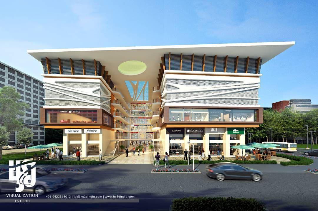 Shoppingmall mall exteriordesign 3drendering for Shopping mall exterior design