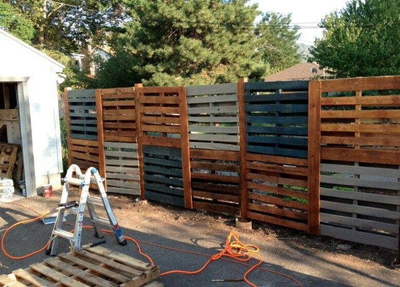 Rustic Double Wood Pallet Fence Wood Pallet Fence Fence