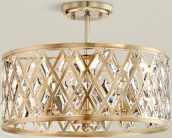 Gold Surface Mount Lights Brass Ceiling Light Globe