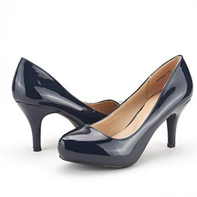 c95c5304d0ac  19.99 Women s New Classic Elegant Versatile Low Stiletto Heel Dress  Platform Pumps Shoes Other categories include