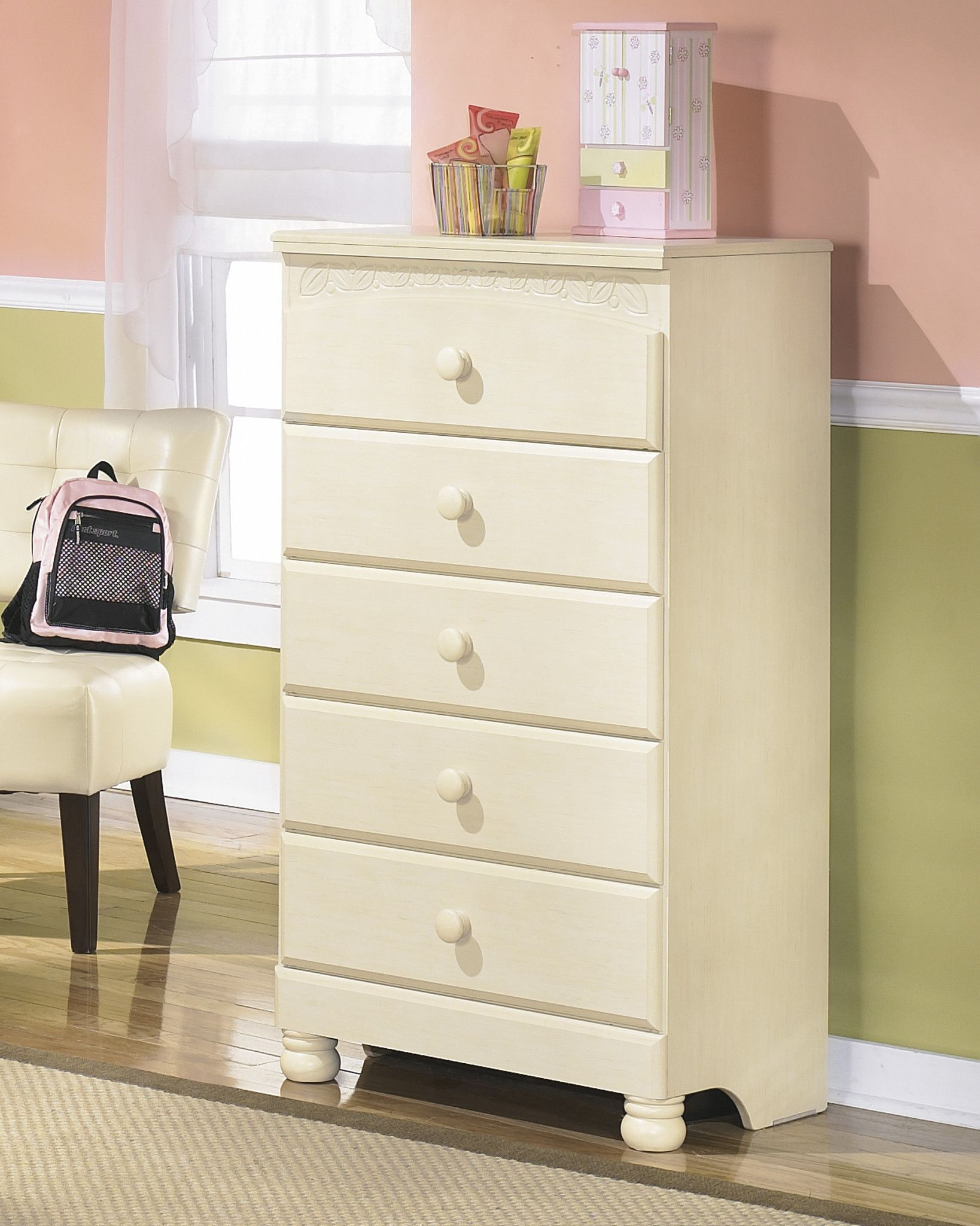 Cottage Retreat Five Drawer Chest Ashley Furniture