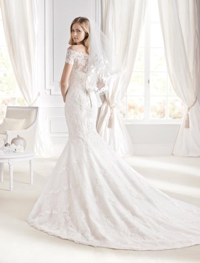 """espalda del #vestido de #novia de la colección """"la sposa 2015"""" con"""