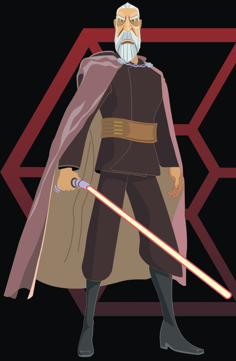 There It Is Count Dooku Character Ready Description From Howtodrawdat Com I Searched For This On Bing Co Star Wars Jedi Star Wars Artwork Star Wars Sith