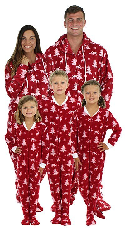 db2bdf966 SleepytimePjs Family Matching Cranberry Deer Onesie PJs Footed Pajamas  Footed onesie pajamas are not intended to be tight fitting. These pajamas  have extra ...