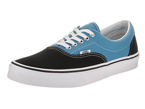Vans Unisex Era (Canvas) Black/Cendre Blu Skate Shoe 9.5 Men US /