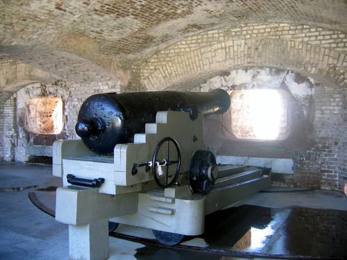 Canon in Fort Sumter National Monument.