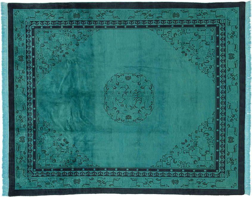 Blau ( Er) Teppich By KISKAN PROCESS HAMBURG, Orientteppich, Gefärbter  Teppich,
