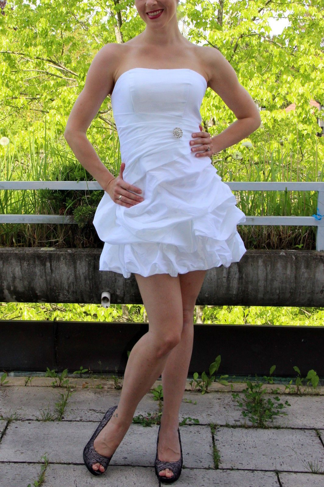 Zum Niederknien Haute Couture Abendkleid Brautkleid Gala Seide UVP ...
