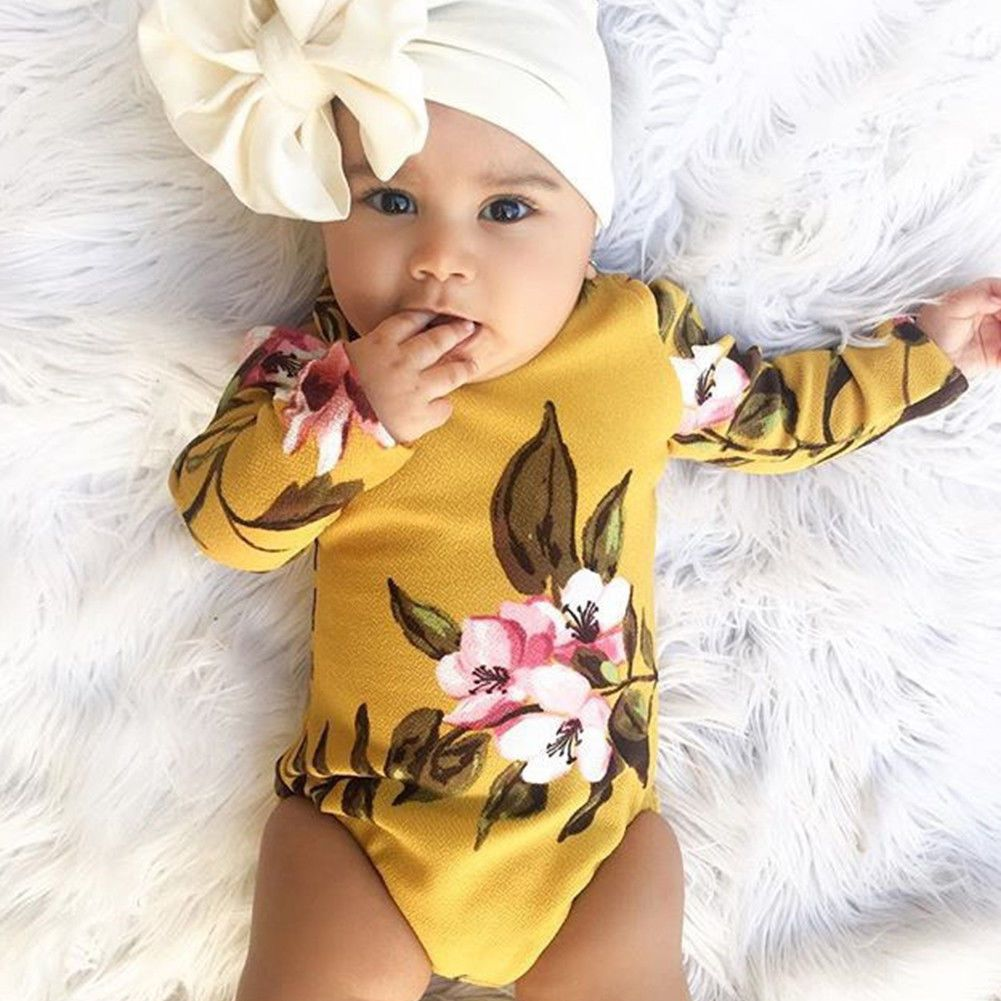 e83ec55df651 3.95 GBP - Newborn Infant Kids Baby Girl Floral Romper Jumpsuit Playsuit  Bodysuit Outfit  ebay