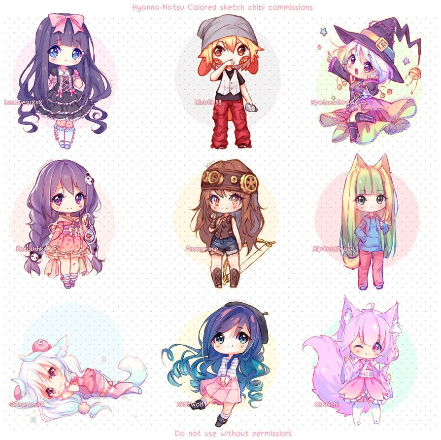 Video Commission Sketch Chibis By Hyanna Natsu Deviantart Com On Deviantart Cute Anime Chibi Kawaii Chibi Anime Chibi