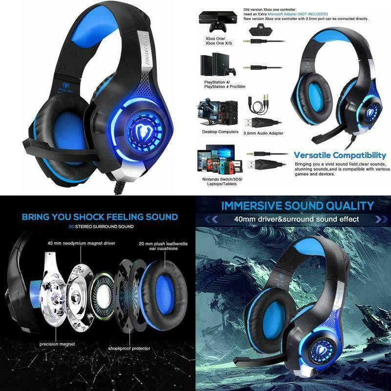 Pro Gaming Headset With Mic Xbox One Wireless Ps4 Headphones Microphone Beats Gaming Headphones Ideas Of In 2020 Gaming Headphones Pc Headphones Ps4 Gaming Headset