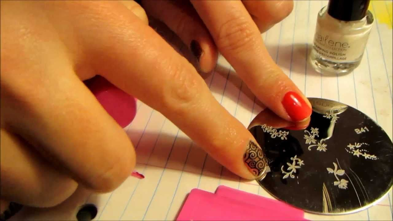 I Use A Drugstore Nail Art Stamping Kit By Nailene To Show How To
