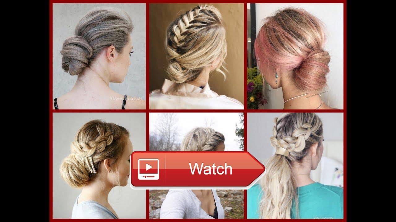 Top easy everyday updo ideas updo hairstyles for work school