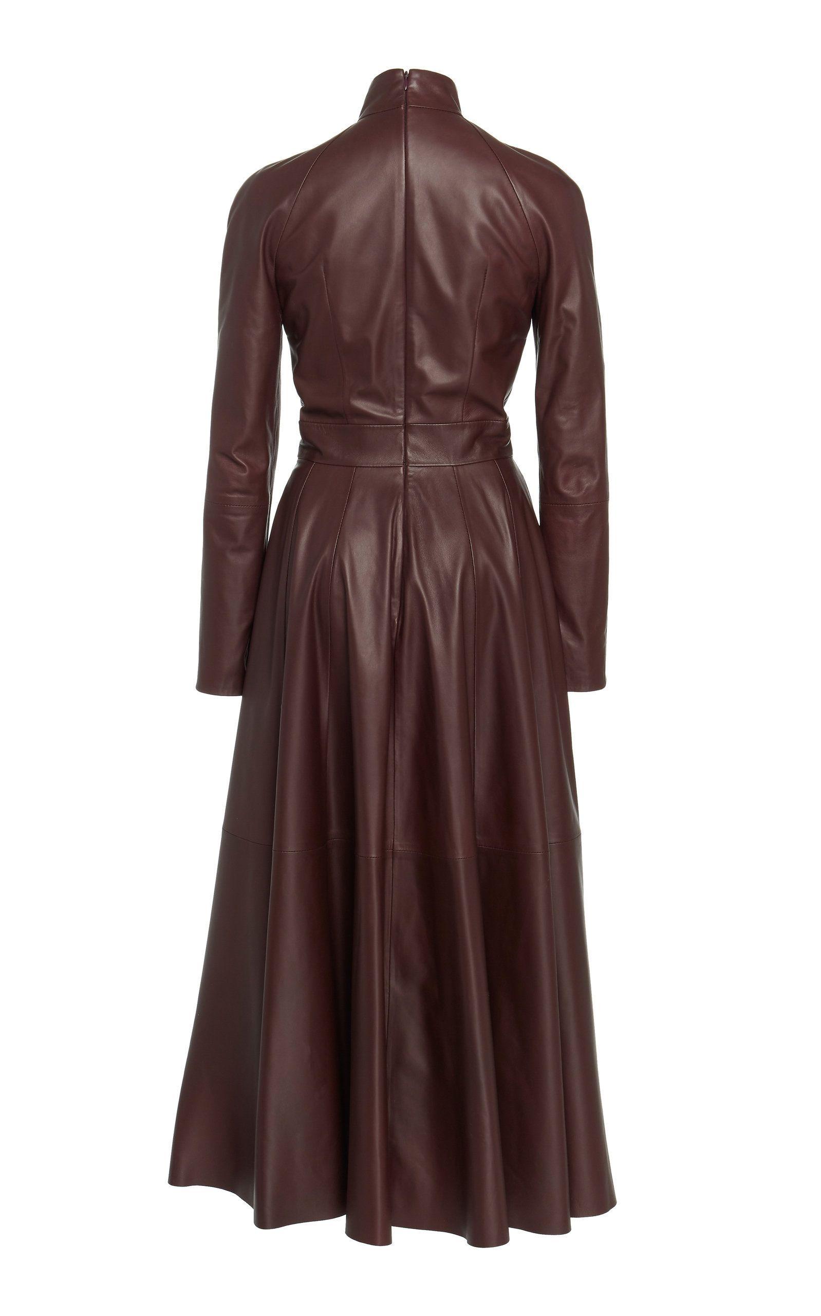 3577c62b6ea Zimmermann Resistance Pleated Leather Dress in 2019