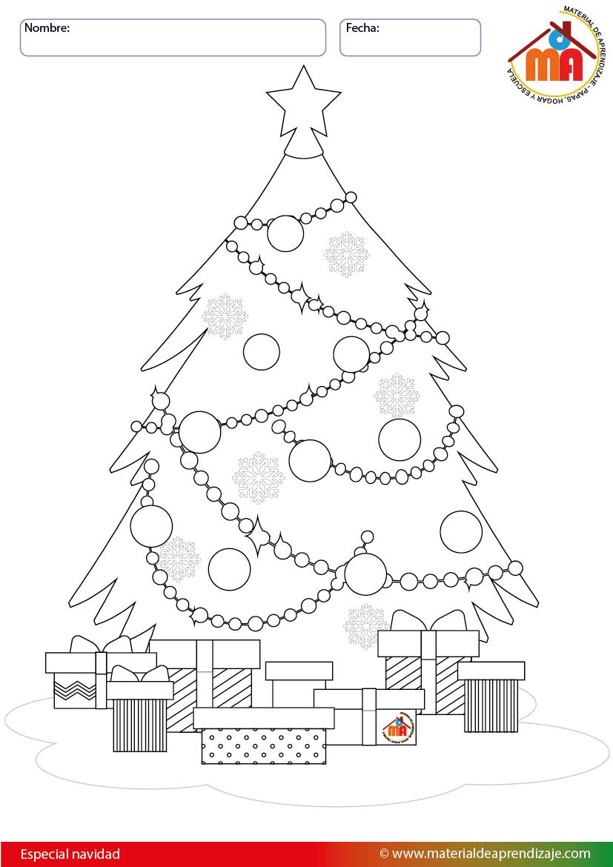 Arbol De Navidad Dibujo Arbol De Navidad Para Colorear Arbol De