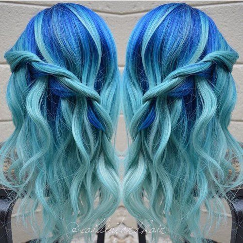 30 Icy Light Blue Hair Color Ideas For S