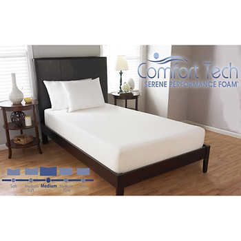 Comfort Tech 10 Serene Foam Twin Mattress Firm Memory Foam Mattress Mattress Sizes Memory Foam Mattress