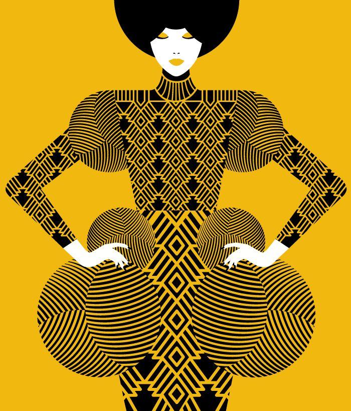 Malika Favre | Undermatic #inspiration #jaune #citrine #yellow