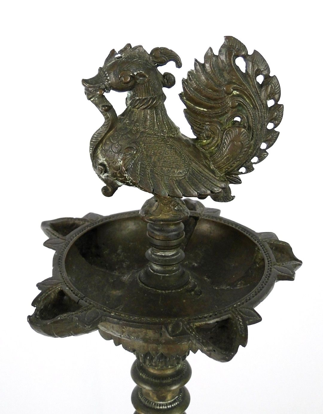Antiques Antique Hindu Hanging Lamp Traditional Indian Ritual Bronze