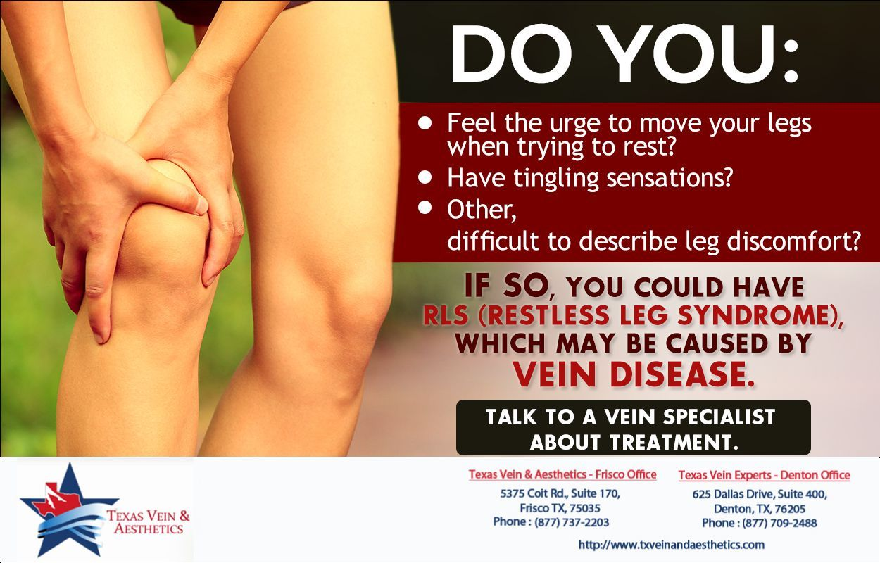 If you think you may have vein disease, call us to schedule an appointment! Denton Office: (877) 709-2488 Frisco Office: (877) 737-2203  #FriscoTX #DentonTX #Texas